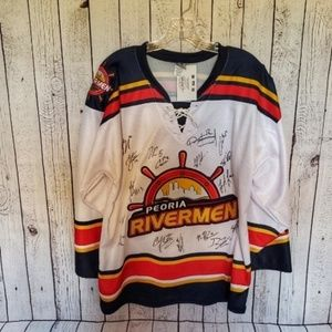 Other - WHOLE TEAM AUTOGRAPHED Peoria Rivermen Jersey